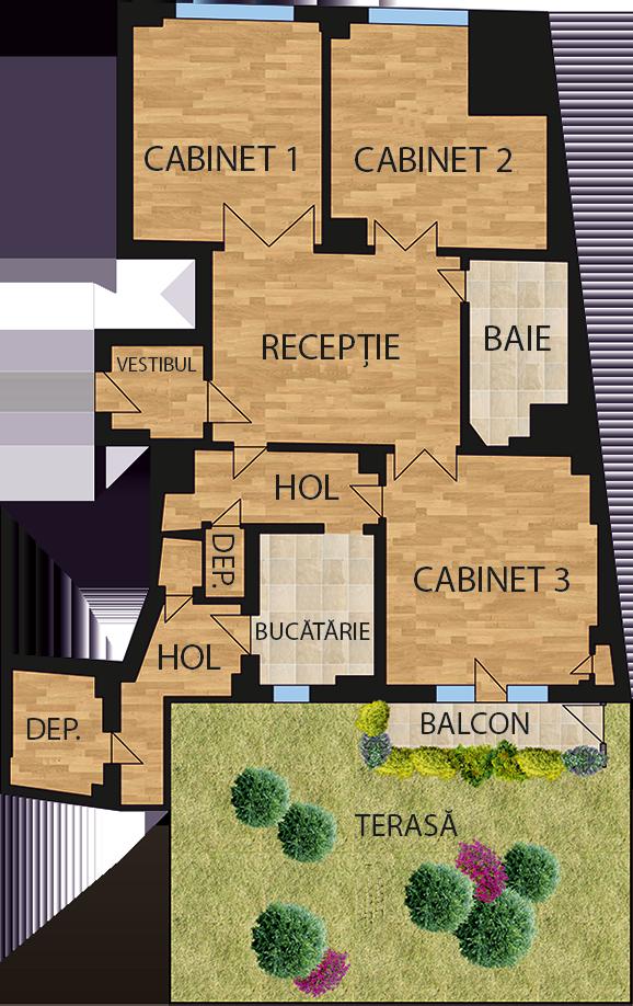 Plan cabinete de inchiriat - Armarium